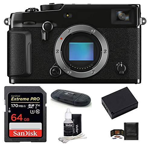 Fujifilm X-Pro3 Mirrorless Digital Camera Body (Black) Bundle, Includes: SanDisk 64GB Extreme PRO SDXC Memory Card + Spare Battery + More (6 Items)