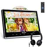 """NAVISKAUTO 12"""" Car DVD Players for Kids with HDMI Input, Free Headphone, Support"""