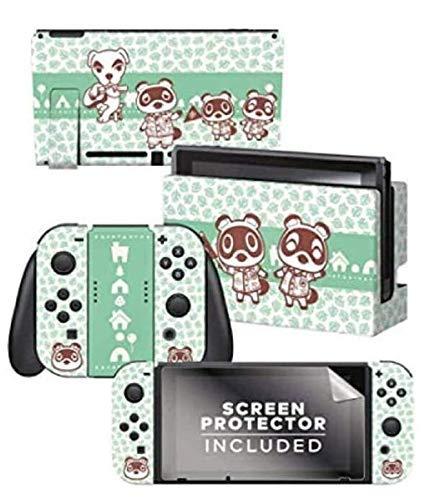 Controller Gear / animal crossing (たぬきち とたけけ つぶきち  まめきち) / あつまれ どうぶつの森 海外限定品 公式ライセンス品 / Nintendo Switch用 ドック コントローラー スキンシール  液晶保