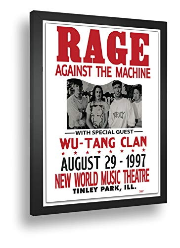 Quadro Decorativo Poster Rage Against The Machine Rock