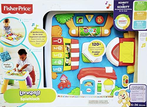 Fisher-Price DRH31 - educatief plezier speeltafel, educatief speelgoed met lampjes, sets en liedjes, meegroeiende speelniveaus, baby speelgoed vanaf 6 maanden, Duitstalig