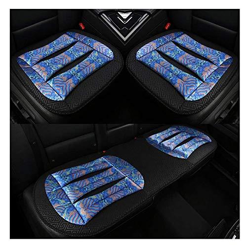 L.TSA Autositz-Schutzkissen, Sommer-Kühlkissen, atmungsaktiv, für Bürostuhl, Polyester, 1 Stück/2 Stück/3 Stück (Farbe: Blau, Größe: B), blau, C