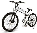 Fangfang Bicicletas Eléctricas, 26' E-Bici, E-MTB, Bicicleta de montaña E-48V 350W 10.4Ah - 26 Pulgadas Shift eléctrica Plegable Bicicleta de montaña 21-Nivel Asistida,Bicicleta