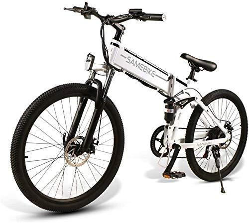 """Fangfang Bicicletas Eléctricas, 26"""" E-Bici, E-MTB, Bicicleta de montaña E-48V 350W 10.4Ah - 26 Pulgadas Shift eléctrica Plegable Bicicleta de montaña 21-Nivel Asistida,Bicicleta"""