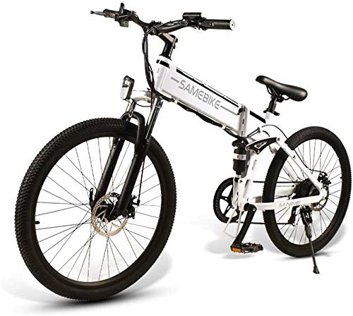 RDJM Ebikes 26' E-Bike, E-MTB, E-Mountainbike 48V 10.4Ah 350W - 26-Inch Folding Electric Mountain Bike 21-Level Shift Assisted