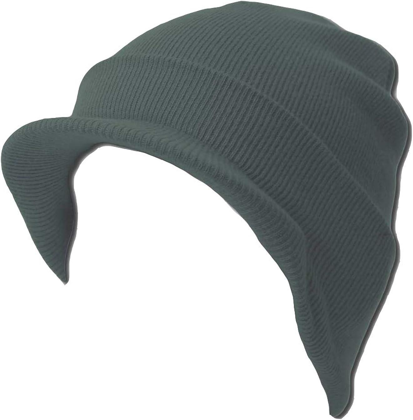 MM Collections Knit Cuff Beanie Visor - Winter Wear/Sports - Heather Grey