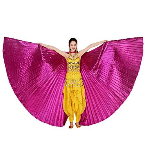 Disfraz egipcia, Dragon868 Disfraz Danza del Vientre para Mujer NiñA ISIS Alas Disfraz para Gran Fiesta De Regalo Egipto Alas del Vientre Traje De Baile Accesorios Sin Palos, Carnaval Disfraces