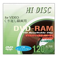 HIDISC 録画用DVD-RAM 3倍速1枚 10mmケース120分4.7GB