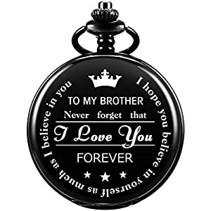 SIBOSUN Pocket Watch for Men Who Have Everything Birthday Gifts for Men Personalized Gifts for Husband Boyfriend (King) Engraved Black