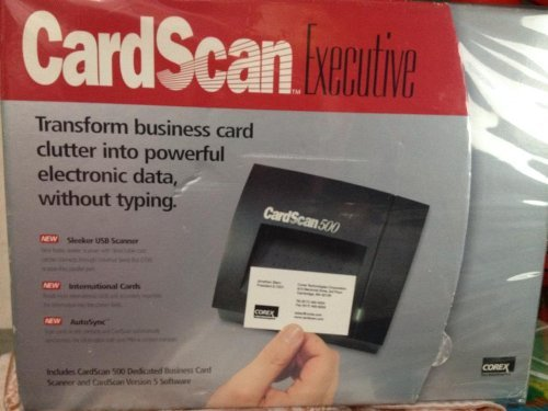 E205320-5C Corex Technologies CardScan 500 Business Cards Scanner