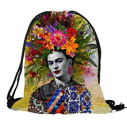 Dunbasi Frida Taschen Kordelzug Rucksack für Damen,Turnbeutel,Sporttasche,Schultaschen,Mode Sportbeutel Reittasche (G)