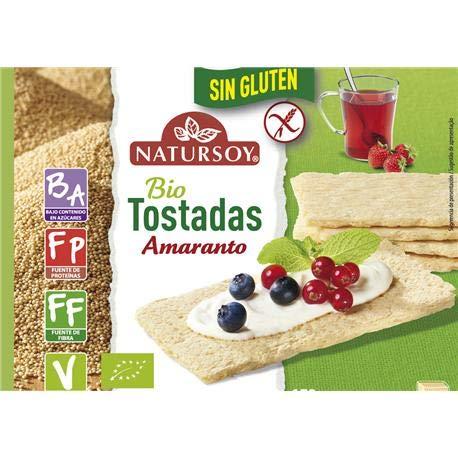 Tostadas de amaranto sin gluten Natursoy 150 g