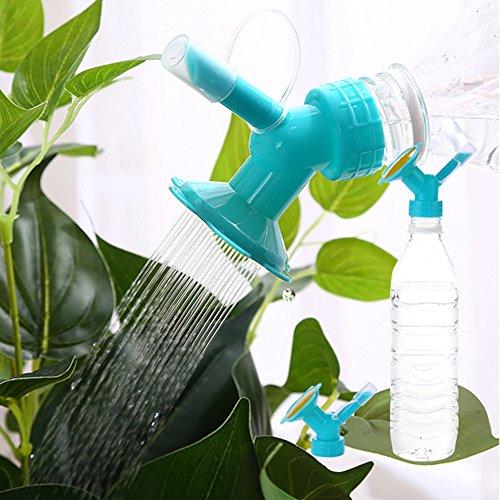 Broadroot Kunststoff Sprinkler Düse Flasche Gießkanne Wasserkanister für Blumen Bewässerung Duschkopf Garten Werkzeug (Blau)