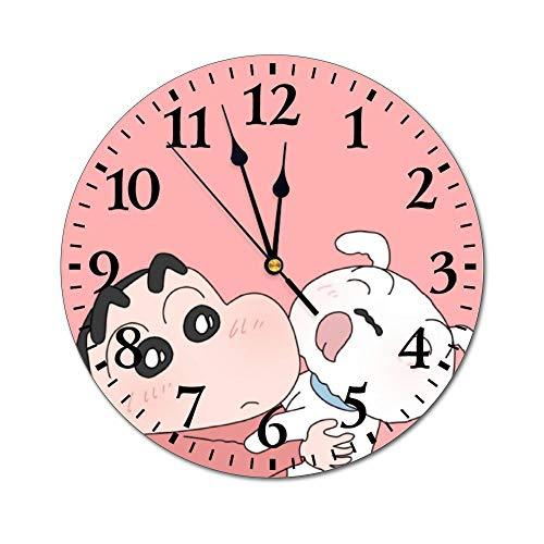 Fikujap decoración de la Pared del Reloj floreros de Cristal con Flores de Colores en estantes de Madera con Grandes de la Pared Decorativos en Colores Pastel Efectos gráfico del Reloj Decorativo,9