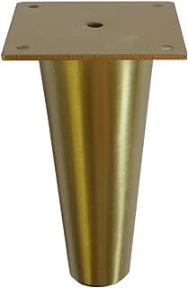 Metal Furniture Legs Round Tapered Brass or Satin Nickel 6 1/4
