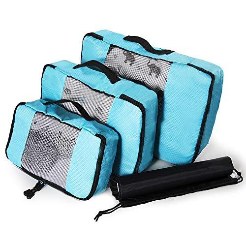 ADDG 3 Set Packing Cubes,Travel Luggage Packing Organizers Travel Storage Bag Set,Green