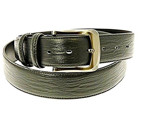 """Pour des hommes en cuir véritable ceinture noire en boîte-cadeau - Convient à la taille environ 28-31 """""""