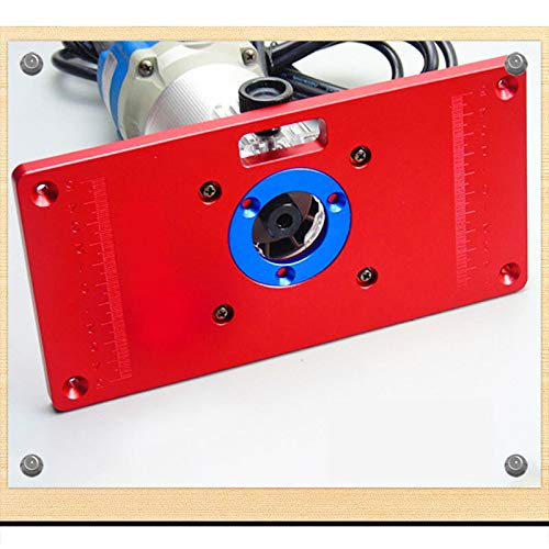 NO LOGO FMN-Home, 1set Tipo de aleación de Aluminio Universal Router Insertar Tabla Placa Router Colocar los Anillos for Trabajar la Madera Bancos Router