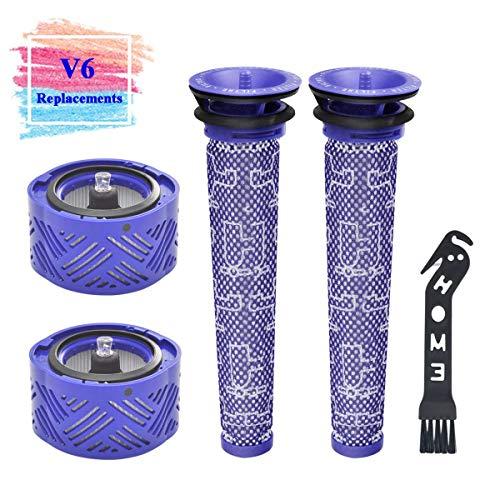 puissant Filtre de rechange APZOVO pour aspirateurs Dyson série V6, deux filtres lavables devant le moteur, 2…