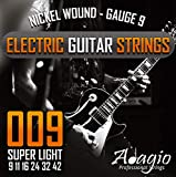 Adagio Pro ELECTRIC GUITAR Strings - Gauge 9 - Extra Light Nickel 9-42 String Pack/Set Ball Ends .009 - .042