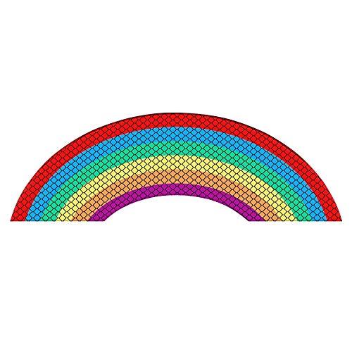 Maluokasa Adhesivo reflectante para coche, arco iris y arcoíris para ventana, parachoques, camiones