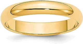 14ct oro 4mm media caña Boda Banda Anillo–anillo tamaño opciones gama: H a Z