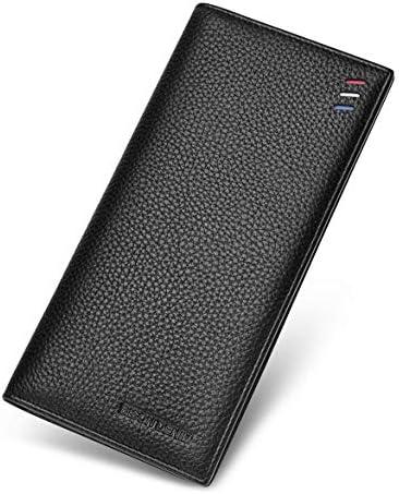 BISON DENIM Mens Credit Card Wallet Genuine Leather Bifold Wallet Slim Long Wallet Billfold product image