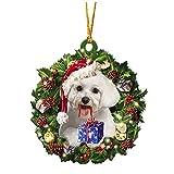 2022 árbol de Navidad de madera DIY colgante etiqueta adornos de Navidad colgante decoración regalo producto personalizado patrón permanente