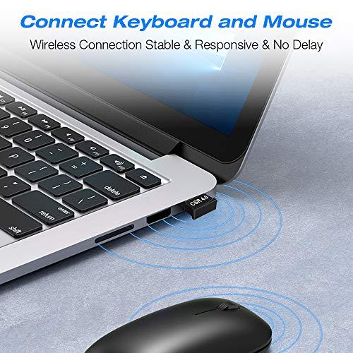 Bluetooth 4.0 Adapter USB Dongle - Bluetooth Adapter PC, Unterstützt NUR Bluetooth Kopfhörer, Maus, Tastatur, Druckern, PC, Bluetooth Adapter für PC Windows 10( Plug & Play), Win/8.1/8/7/Vista/XP