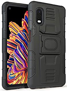 Galaxy XCover Pro Case, Nakedcellphone Rugged Ring Grip Cover with Stand [Built-in Mounting Plate] for Samsung Galaxy XCov...