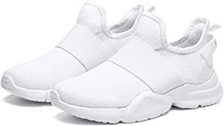 AUCDK Women Breathable Sneakers Mesh Upper Slip On Casual Sports Shoes Anti Slip Ladies Gym Fitness Trainers