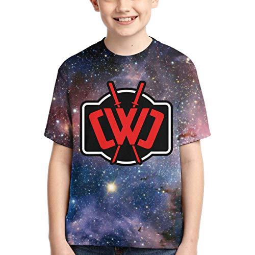 maichengxuan CWC Chad Wild Clay Kinder 3D Galaxy Print T-Shirt Kurzarm Tops für Jungen Mädchen Gr. XS, Schwarz