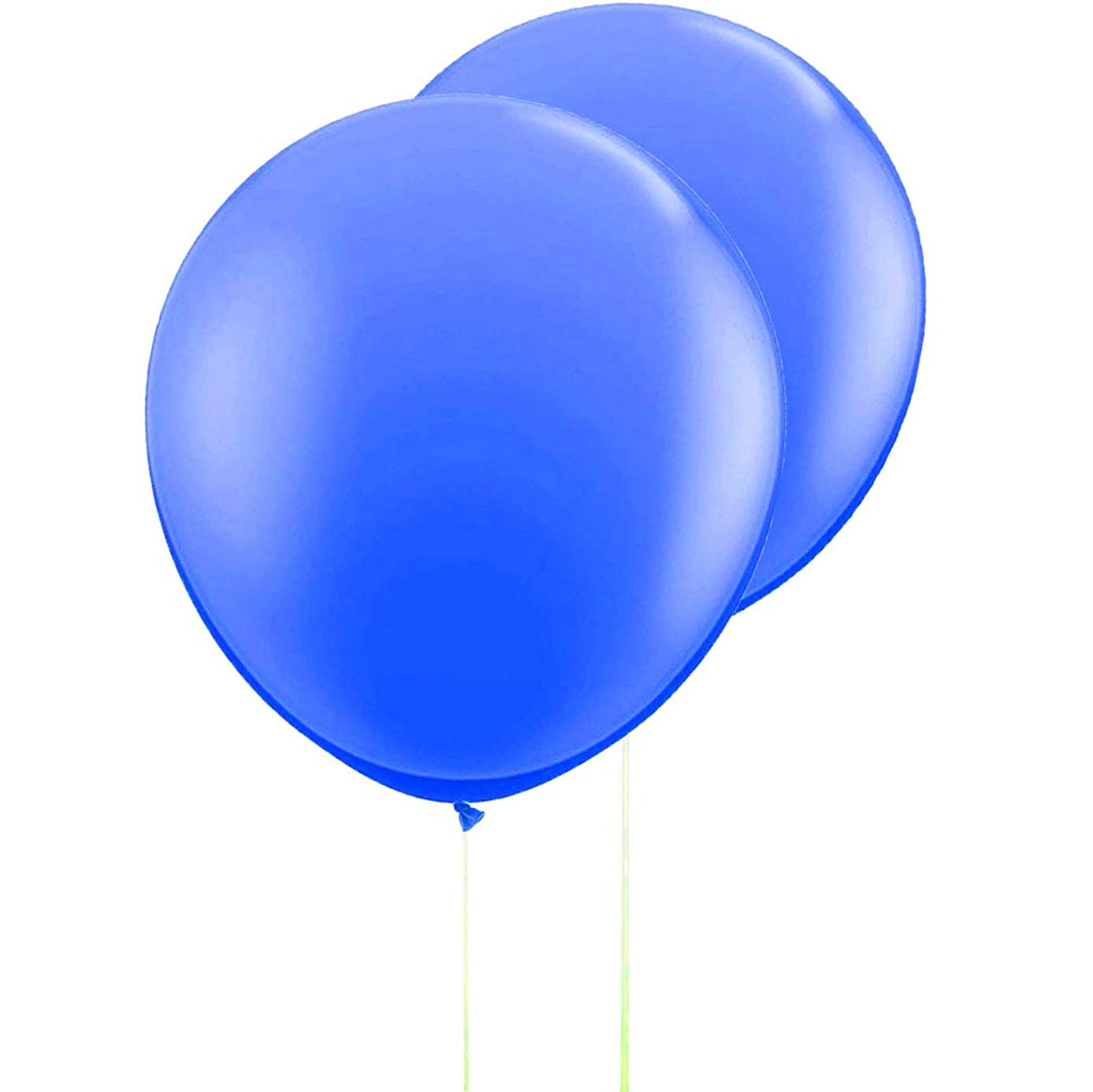 AZOWA 36 In Big Round Balloons Blue Gaint Party Balloons Large Latex Balloon for Wedding Baby Shower Birthday Party Decorations 6 pack