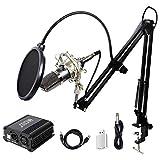 TONOR XLR 3.5mm Micrófono Condensador Profesional para Computadora Podcast Estudio con So...