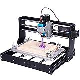 Máquina de grabado láser,portátil de alta precisión kit de máquina grabadora CNC de escritorio con gafas y nuevo panel de control,corte de madera/papel/parte de cuero/grabado láser (3W)