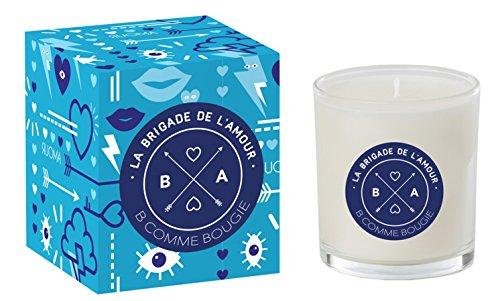 BCommeBougie - Bougie Parfumée - La Brigade de l'amour Bleu, Boisée, Pimentée