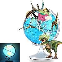 スマートARワールドグローブサイエンティフィックチルドレンズグローブランプエクスプローラーAR子供向け教育世界地理家の装飾とオフィスデスクトップギフト