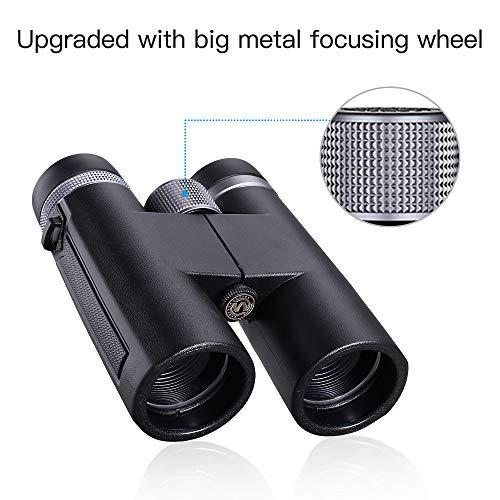 Boblov 12x42 Binoculars Telescope BAK4 Impermeable HD Spotting Scope Catalejo Monoculares con BAK-4 Prisma Mini Prismáticos Portátiles Compactos Ligeros