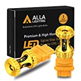 Alla Lighting 3156 3157 LED Bulbs 3000lm Extreme Super Bright Turn Signal Lights for Cars Trucks T25 3057 3457 4157 4057, Amber Yellow
