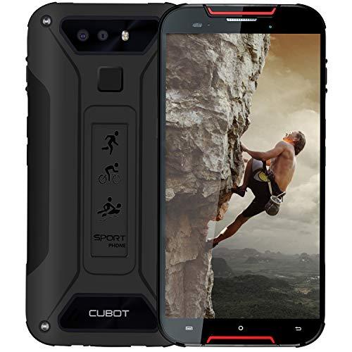 CUBOT Quest Lite 4G IP68 Móvil Todorerreno para Viajes o Deporte Smartphone Impermeable Botón Personaliado 3GB RAM 5.0 Pulgadas Android Dual SIM Dual Cámara 12Mp 3000mAh Type-C Negro y Rojo