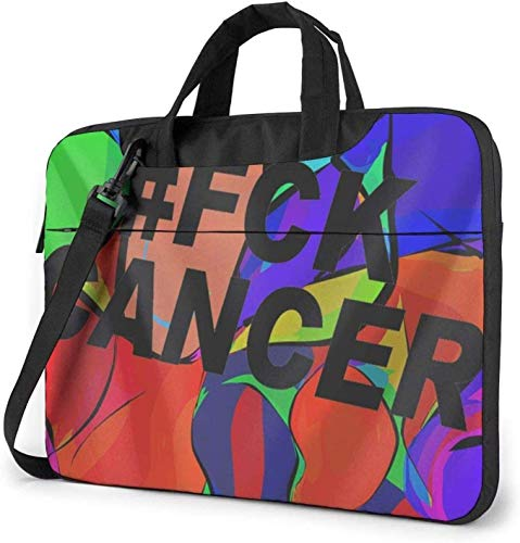 Fck Cancer Laptop Bag Shockproof Briefcase Shoulder Bags Carrying Case Laptop 15.6 Inch