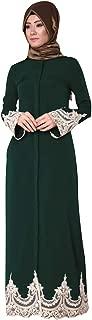 Women's Muslim Dress, Ladies Long Sleeve Casual Kaftan Turkish Ethnic Middle East Patchwork Maxi Long Dress