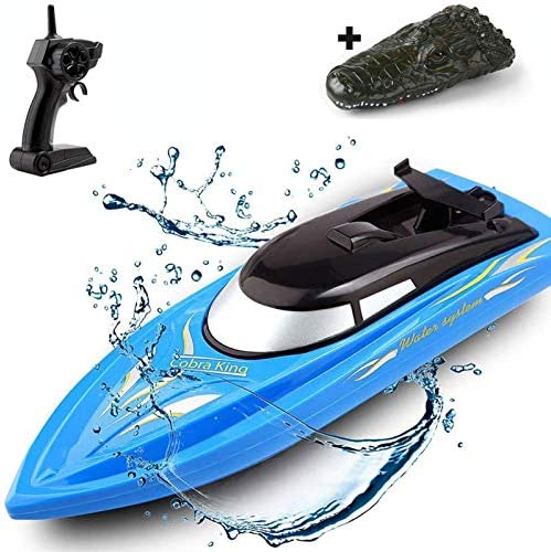 SZJJX 2 in 1 RC Boat Remote Control Racing Boats for Pools and Lakes Pond Garden 10km H 2 4G product image