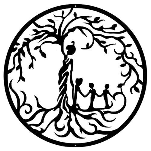 likeitwell Árbol de la Vida Decoración de Pared de Metal Decoración de...