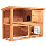SmithBuilt 48' Rabbit Hutch - Two Story Wood Bunny Cage