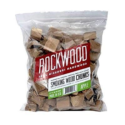Rockwood Missouri 3-5 Lb All Natural Organic Hardwood Low & Slow Outdoor Smoker Smoking Wood Chunks, Apple
