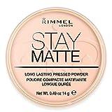 Rimmel London Stay Matte Pressed Powder, 002-Pink Blossom, 14 g