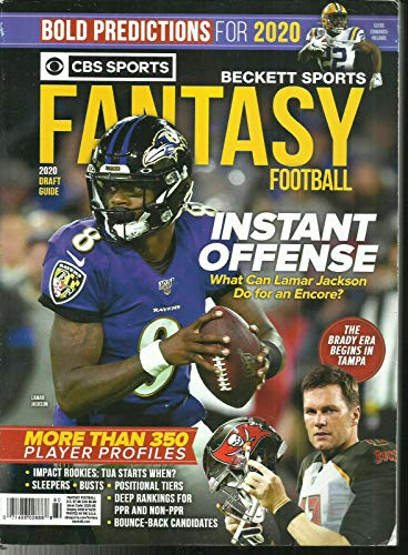 CBS SPORTS FANTASY FOOTBALL BECKETT SPORTS MAGAZINE 2020.