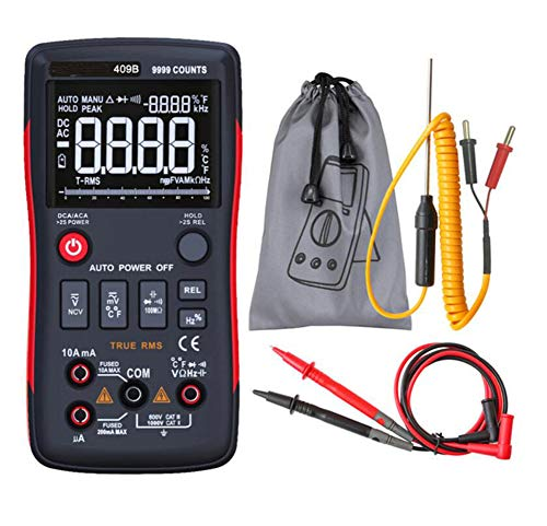Buy RM409B True-RMS Digital Multimeter Button 9999 Counts With Analog Bar Graph AC/DC Voltage Ammete...