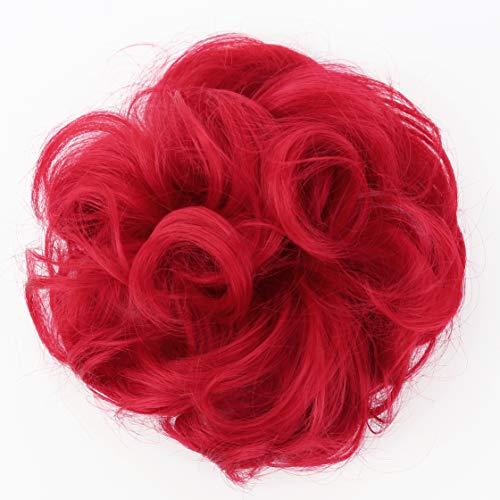 Prettyshop XXL-Haarteil-Haargummi, für voluminöse lockige Haarknoten oder zerzauste Dutts